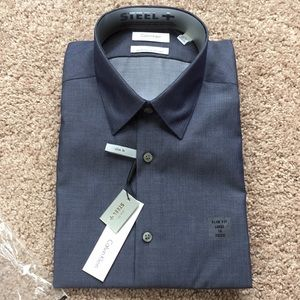 Smokey Blue Calvin Klein Dress Shirt